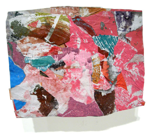 Postcard from Florida #166 , 2008 acrylic paint and pasted paper 5 X 6 3/4 inches
