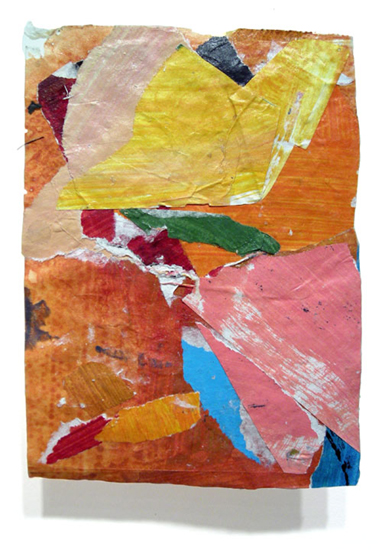 Postcard from Florida #25 , 2007 acrylic paint and pasted paper 7 1/4 X 5 1/4 inches
