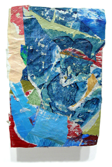 Postcard from Florida #118 , 2007 acrylic paint and pasted paper 6 3/4 X 4 1/2 inches