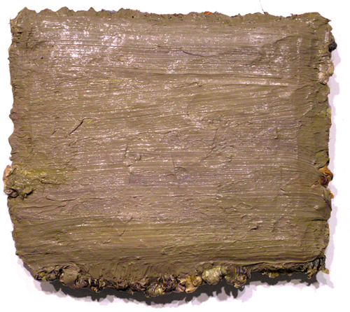 "pakistan , 2008 oil paint, medium on carpet 15 1/2 "" x 17 1/2"""