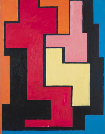 "juggernaut , 2010 oil on canvas 79"" x 61"""