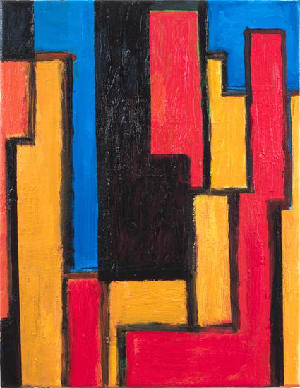 "study #1,  2009/10 oil on canvas 18"" x 14"""