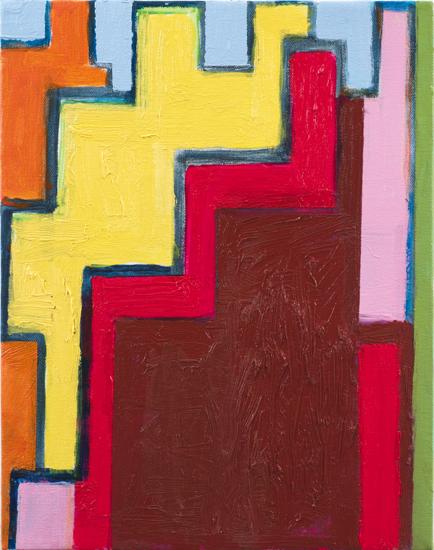 "study #3 , 2010 oil on canvas 14"" x 11"""