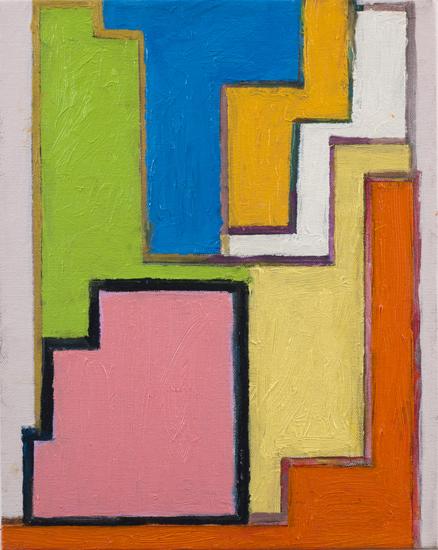 "study #5 , 2010 oil on canvas 14"" x 11"""