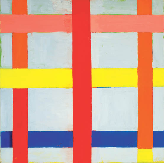 "triple play , 2008 oil on canvas 30"" x 30"""