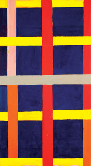 """slide kick , 2008 oil on canvas 61"""" x 34 """""""