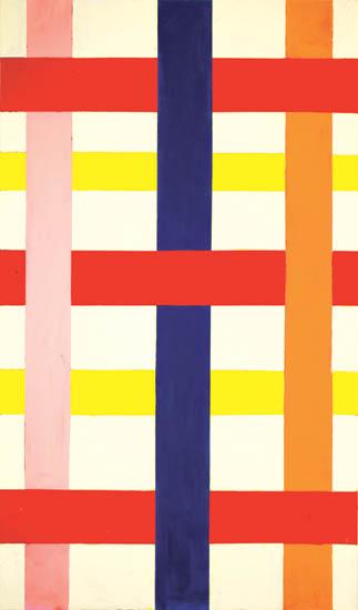"""summer house , 2008 oil on canvas 68"""" x 43 """""""