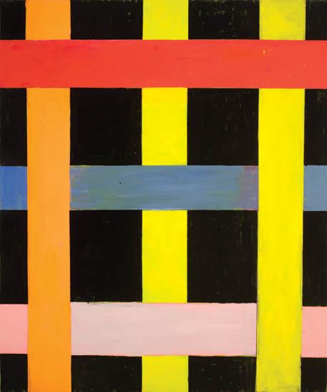 "black warrior , 2008 oil on canvas 70"" x 59 """