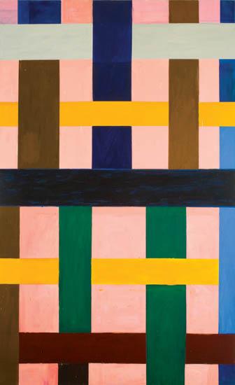 """gotham's rhythm , 2008 oil on canvas 106"""" x 65 """""""