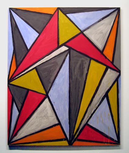 """Pushpuller , 2006 acrylic on canvas 79"""" x 65"""""""