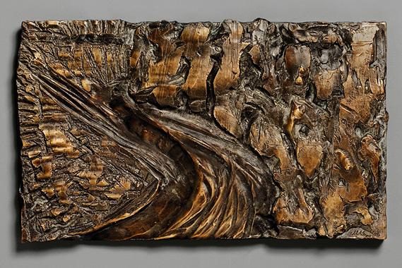 "Landscape, Autumn I , 2006 bronze - edition 5/8 11 3/4"" x 19 3/4"""