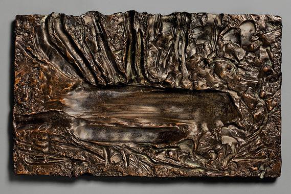 "Landscape, Autumn III , 2006 bronze - edition 5/8 11 3/4"" x 19 3/4"""