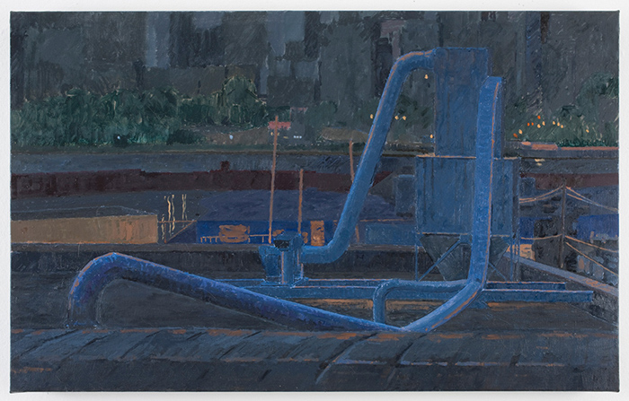 night , 2010 oil on linen 17 1/8x 27 1/4 inches