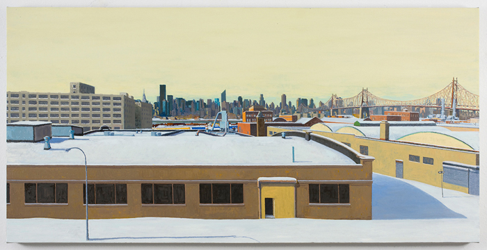 snow , 2010 oil on linen 21 x 42 inches