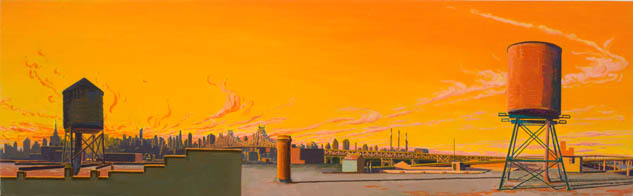 Baby Glory Days , 2008 oil on linen 12 x 39 inches