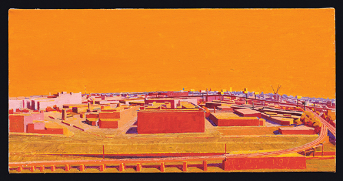 Citywide, South , 2004  oil on linen 10 x 20 inches