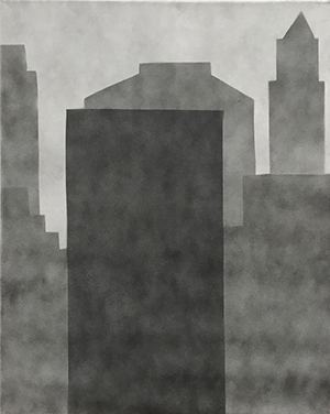 William Carroll  New York 82 , 2015 spray paint on linen 20 x 16 inches