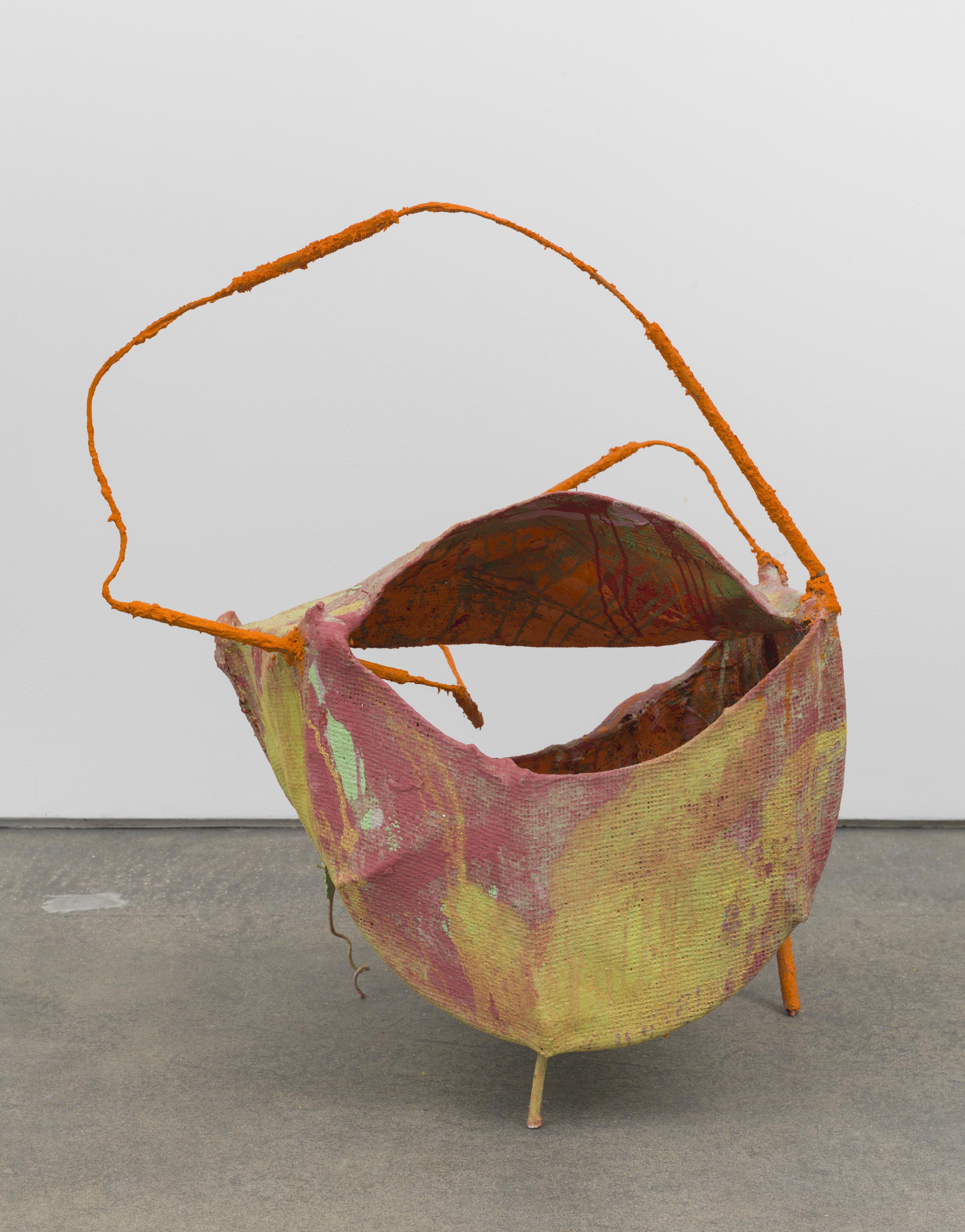 "Medusa , 2017  Pigment, plaster, burlap, wire  34 x 17 x 24"""