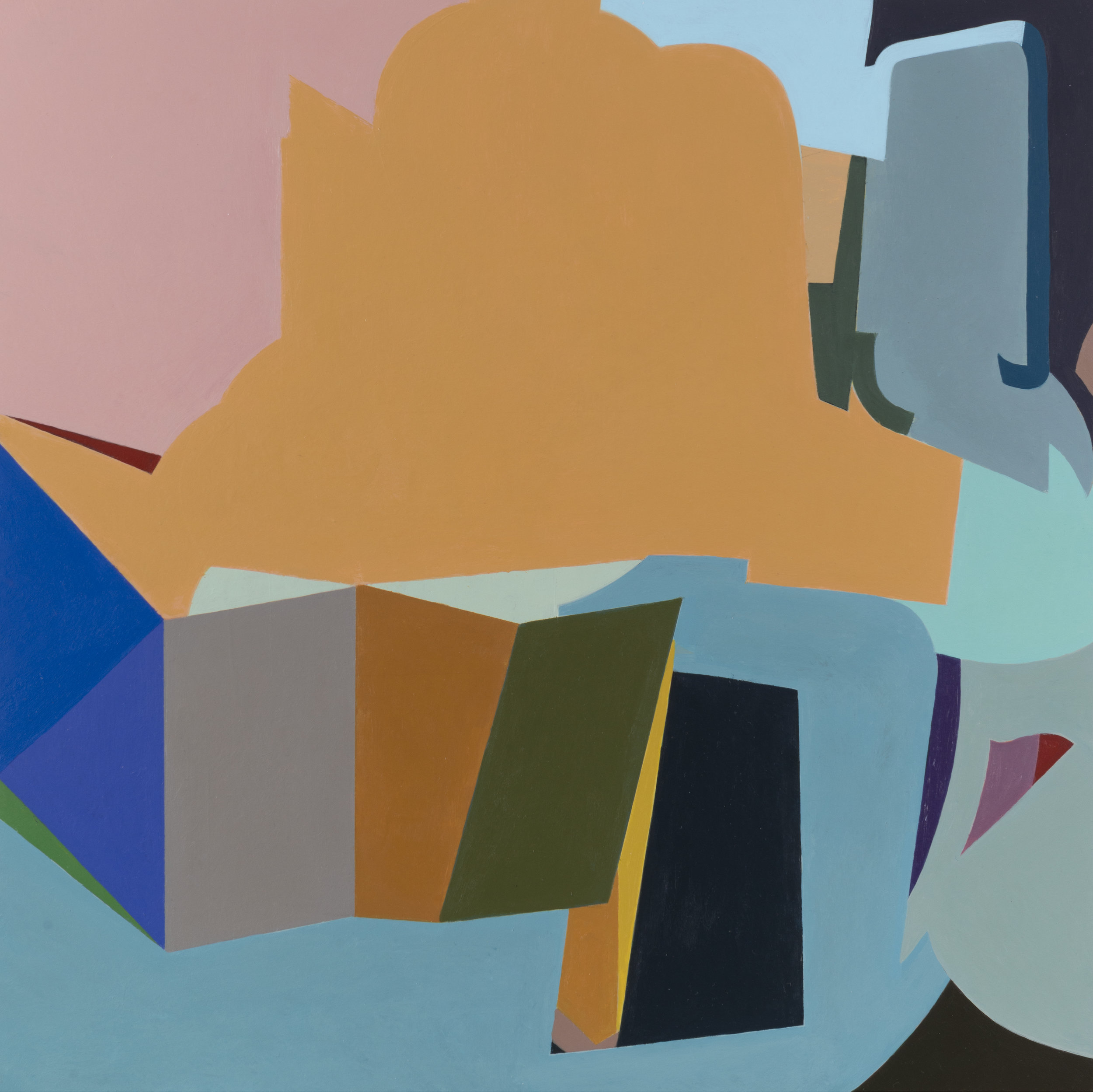 "Spolia, 2017 acrylic on panel 16 x 16"""