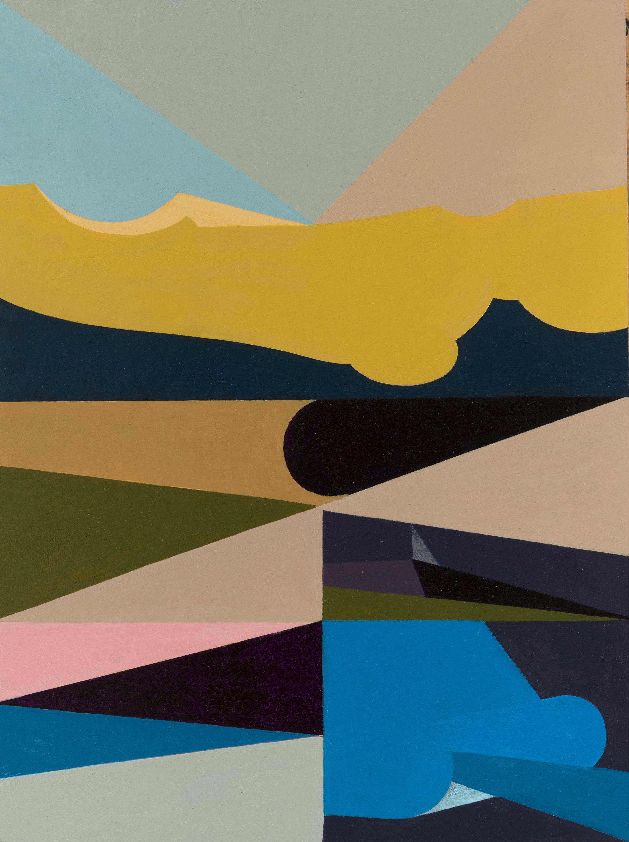 "Tavola, 2014-17 acrylic on panel 16 x 12"""