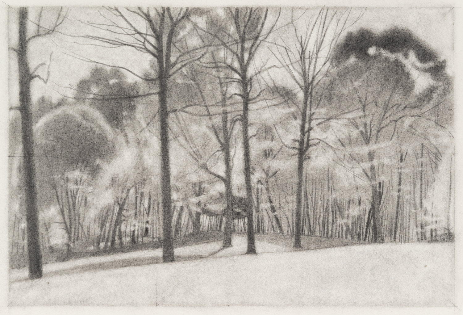 Slope , 2016  pencil on paper  9 x 12 inches