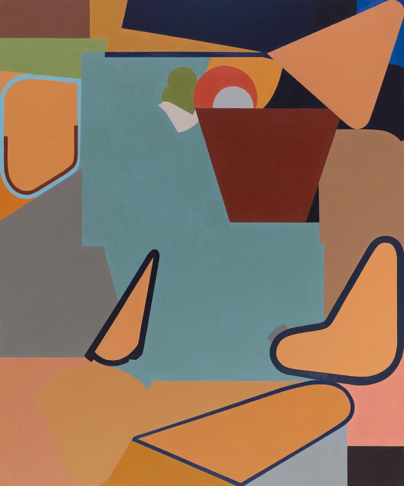 "West 70th Street, 2017 acrylic on panel 36 x 30"""