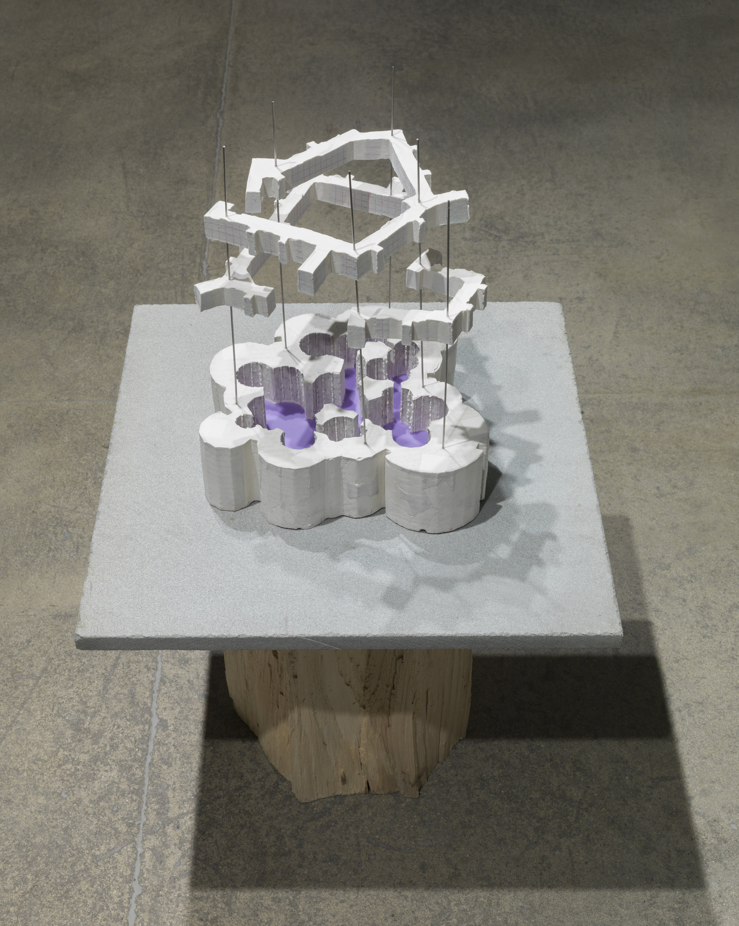 purple pool , 2017-18 hydrostone, stainless steel wire, beeswax 13 x 10.5 x 10 inches