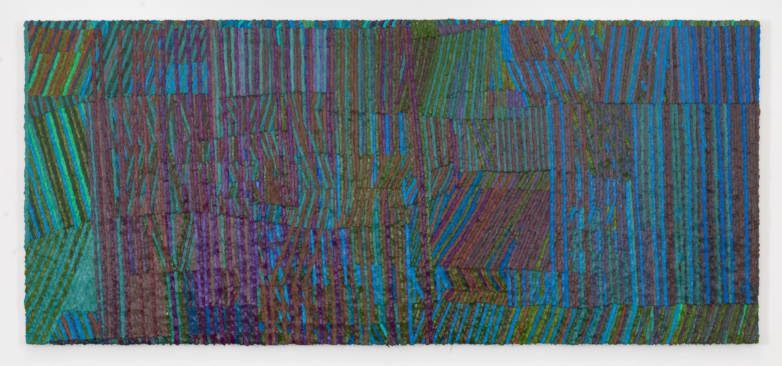 Aquarium , 2017-18 Oil on canvas 42 x 94 inches