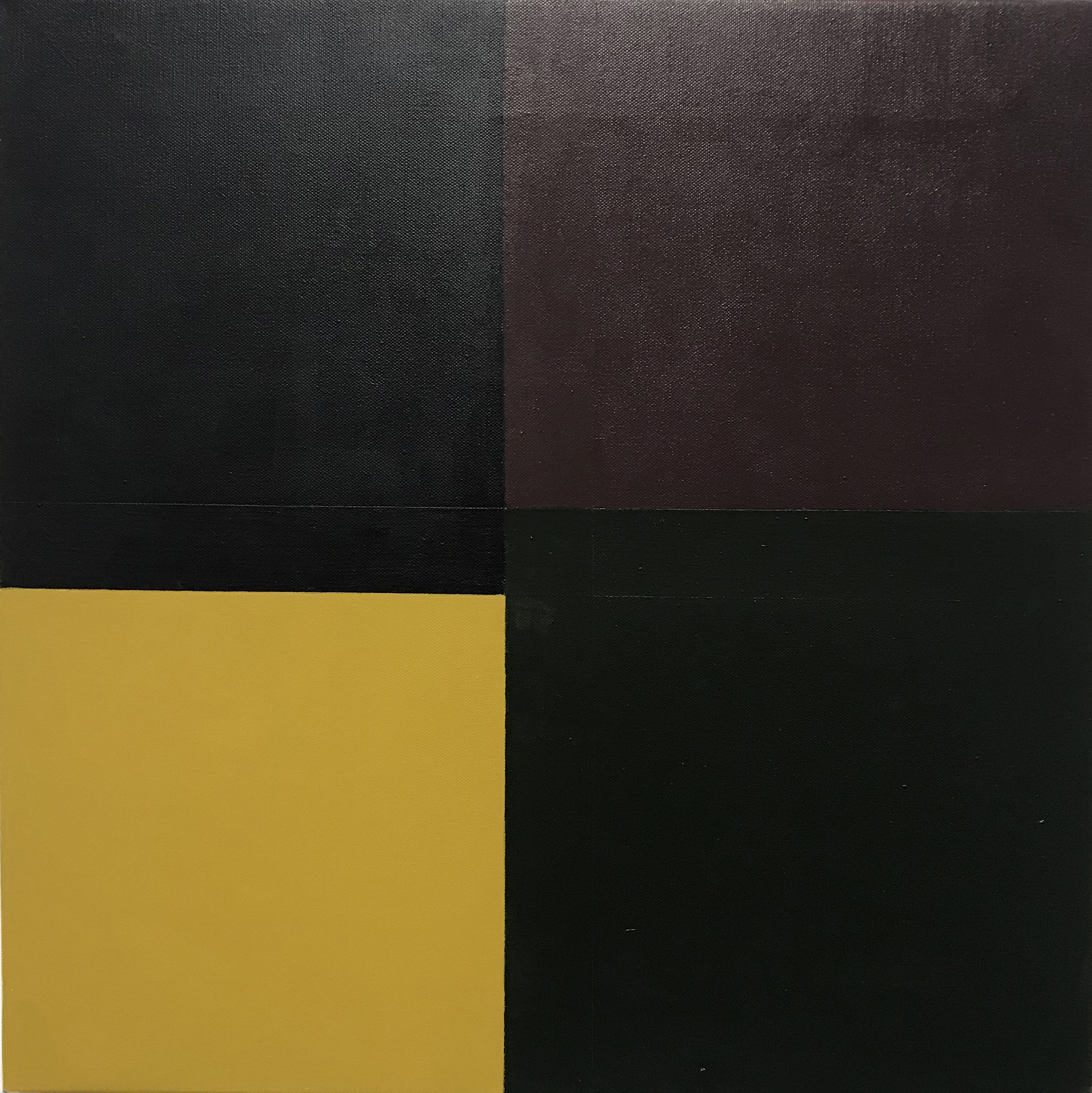 untitled  (LK18.004), 2018 acrylic on canvas 19 3/4 x 19 3/4 inches