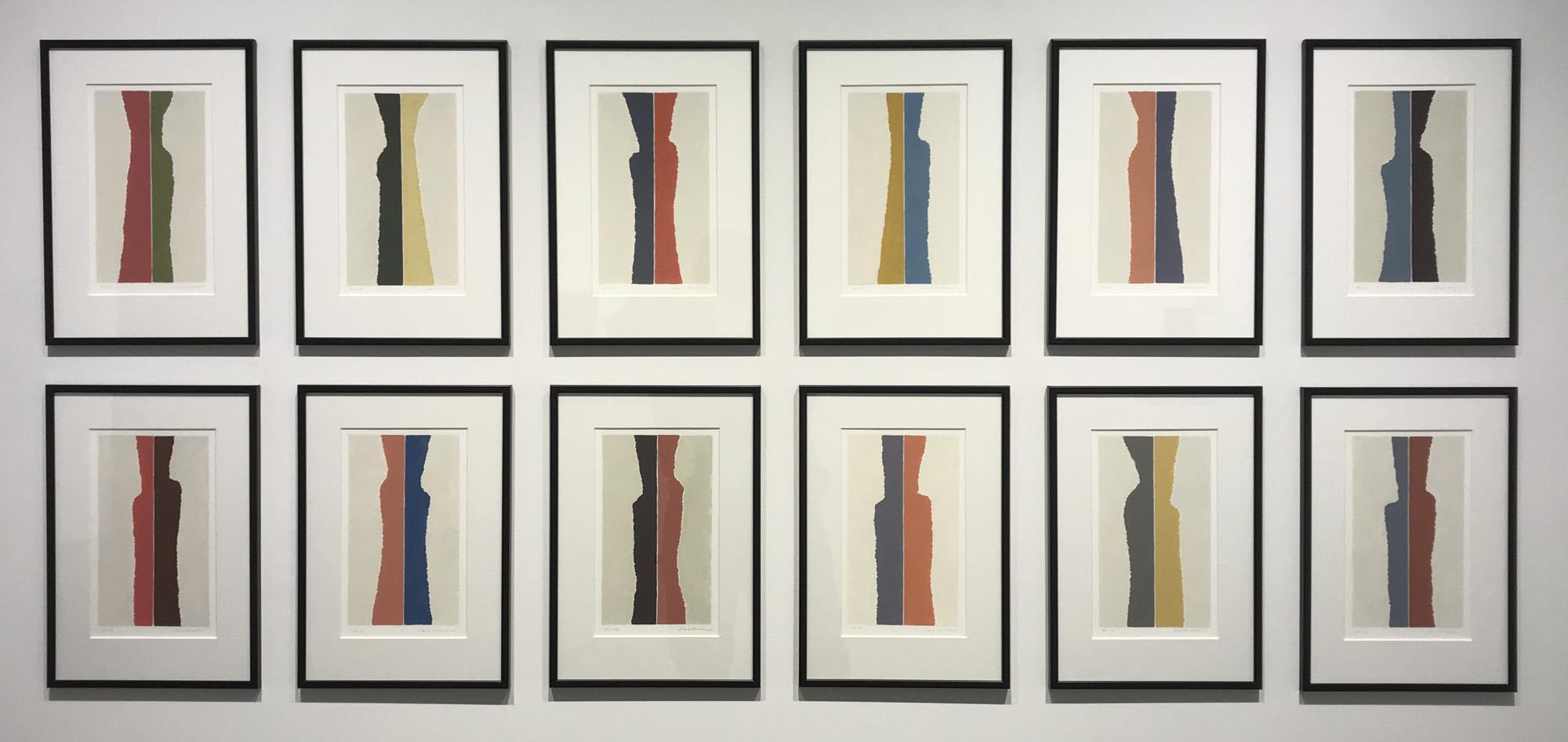 civitella ranieri drawings,  2012 acrylic on paper 15 1/2 x 10 3/4 inches each