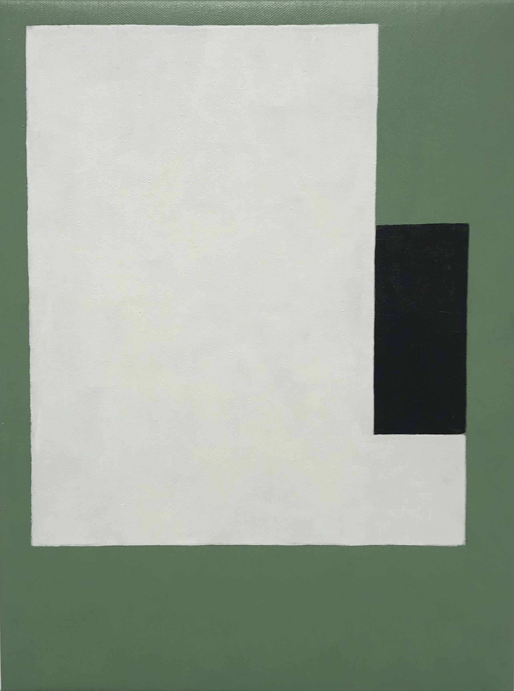 untitled  (LK18.017), 2018 acrylic on canvas 15 3/4 x 12 inches