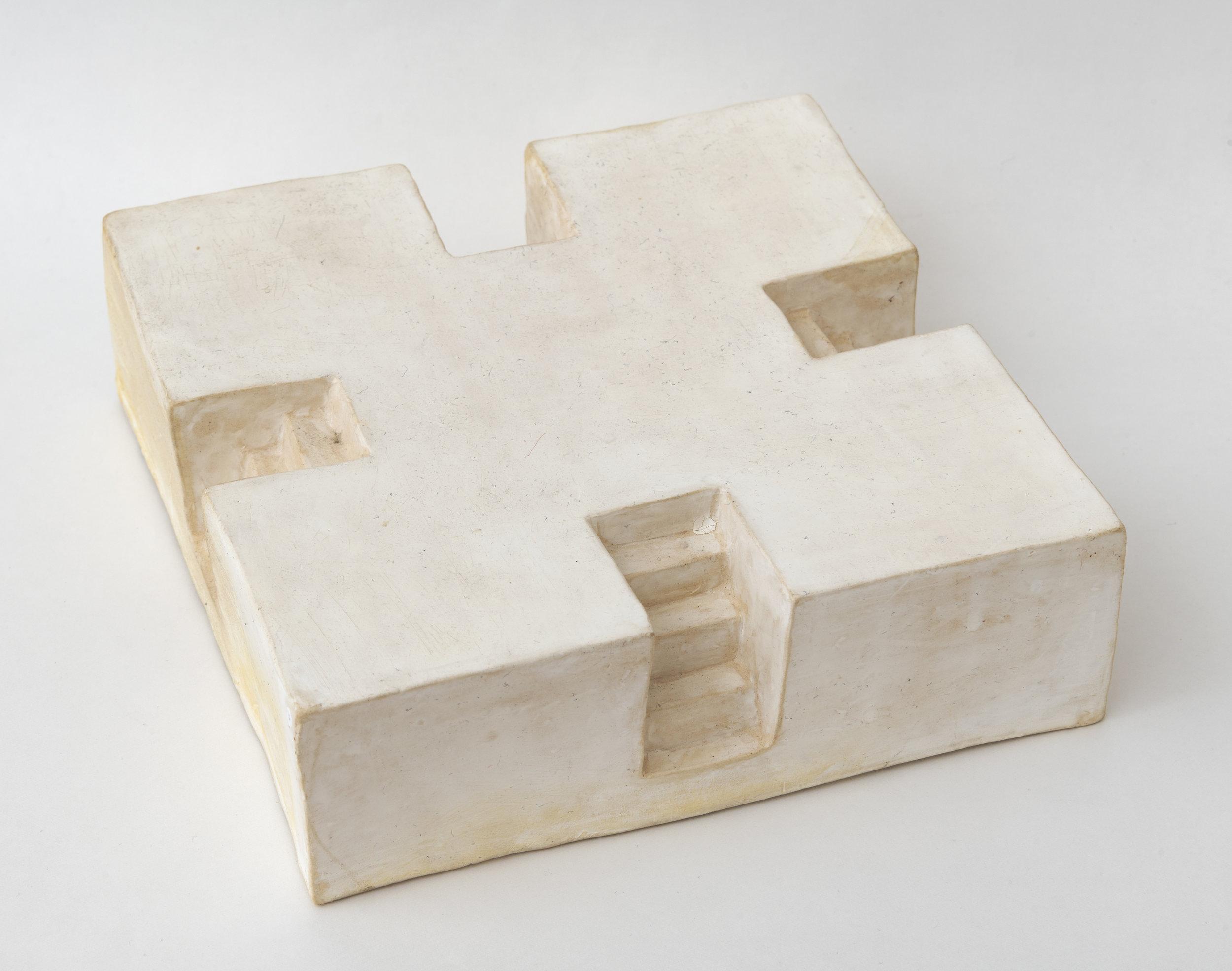 platform , 2018 stoneware 2 1/4 x 7 1/2 x 7 1/2 inches