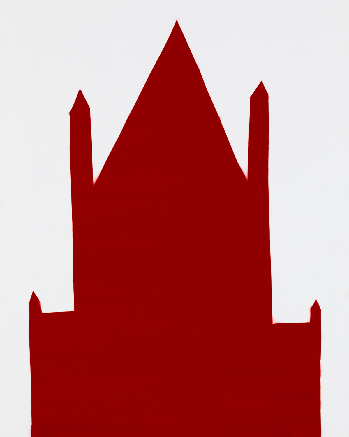 RED 59 , 2018 spray paint on panel 30 x 24 inches