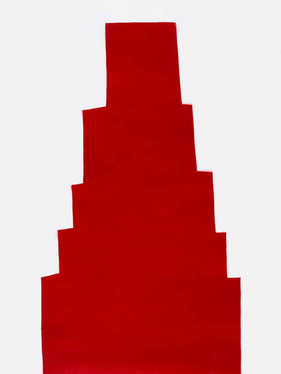 RED 60 , 2018 spray paint on panel 24 x 18 inches