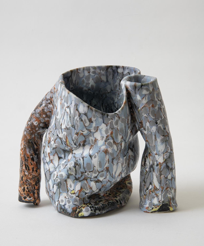 stancer , 2018 glazed ceramic 7 x 7.5 x 5.5 inches