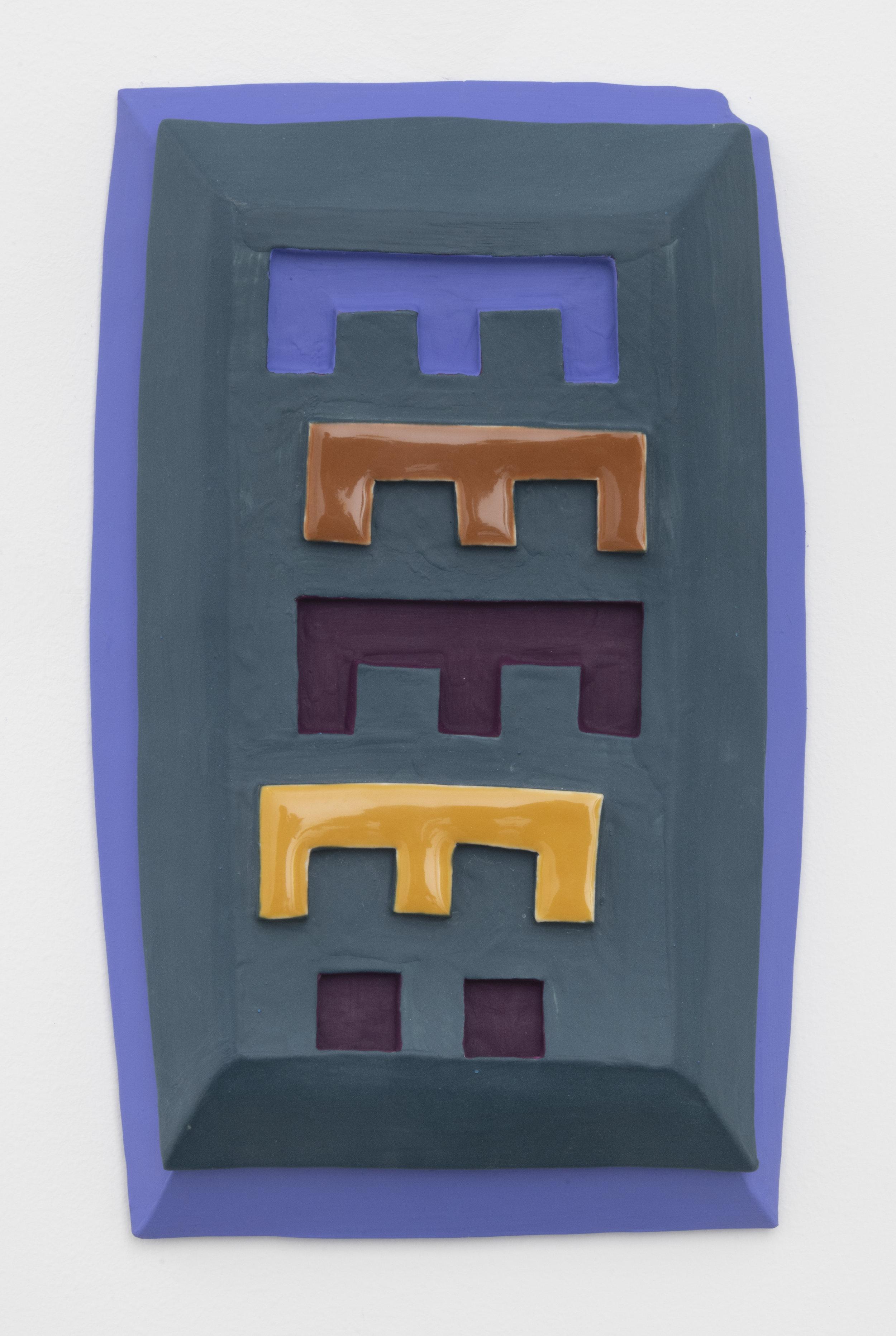 E-Z , 2019  paint on glazed ceramic  12 x 7 inches