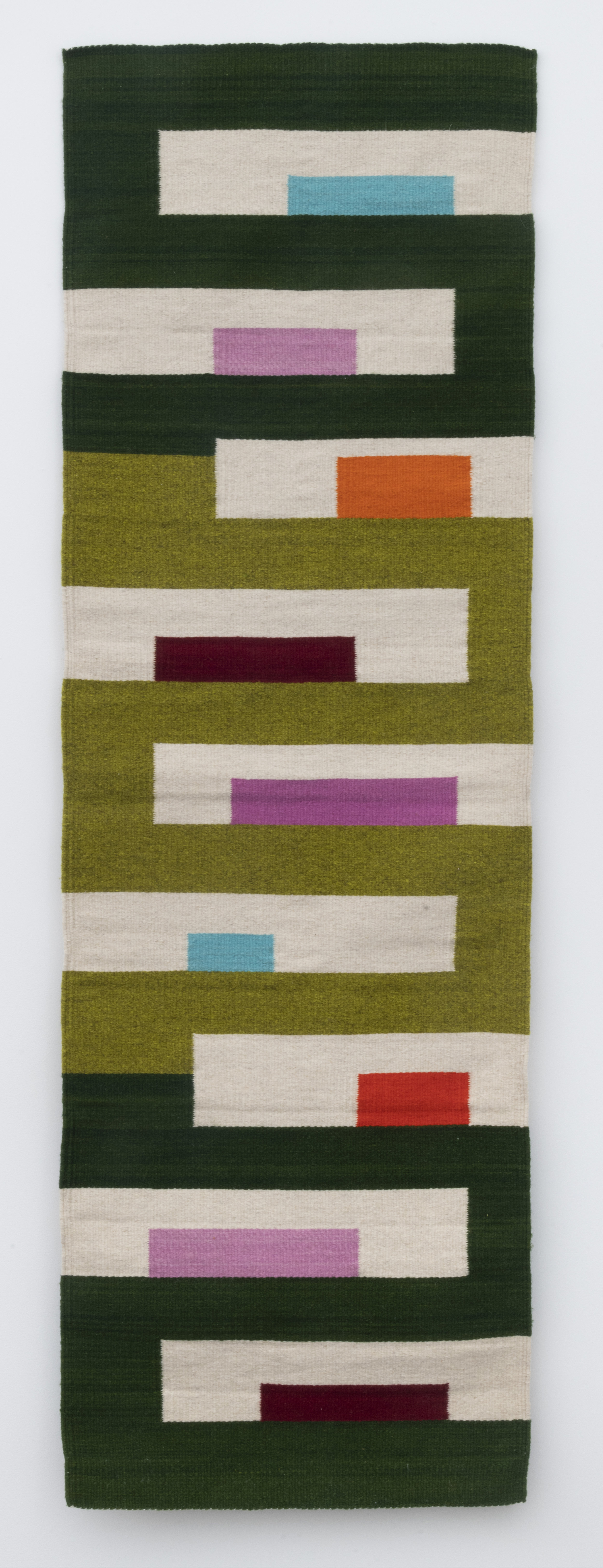 stacks , 2017  hand dyed wool woven by Licha Gonzalez Ruiz 73 x 24 inches