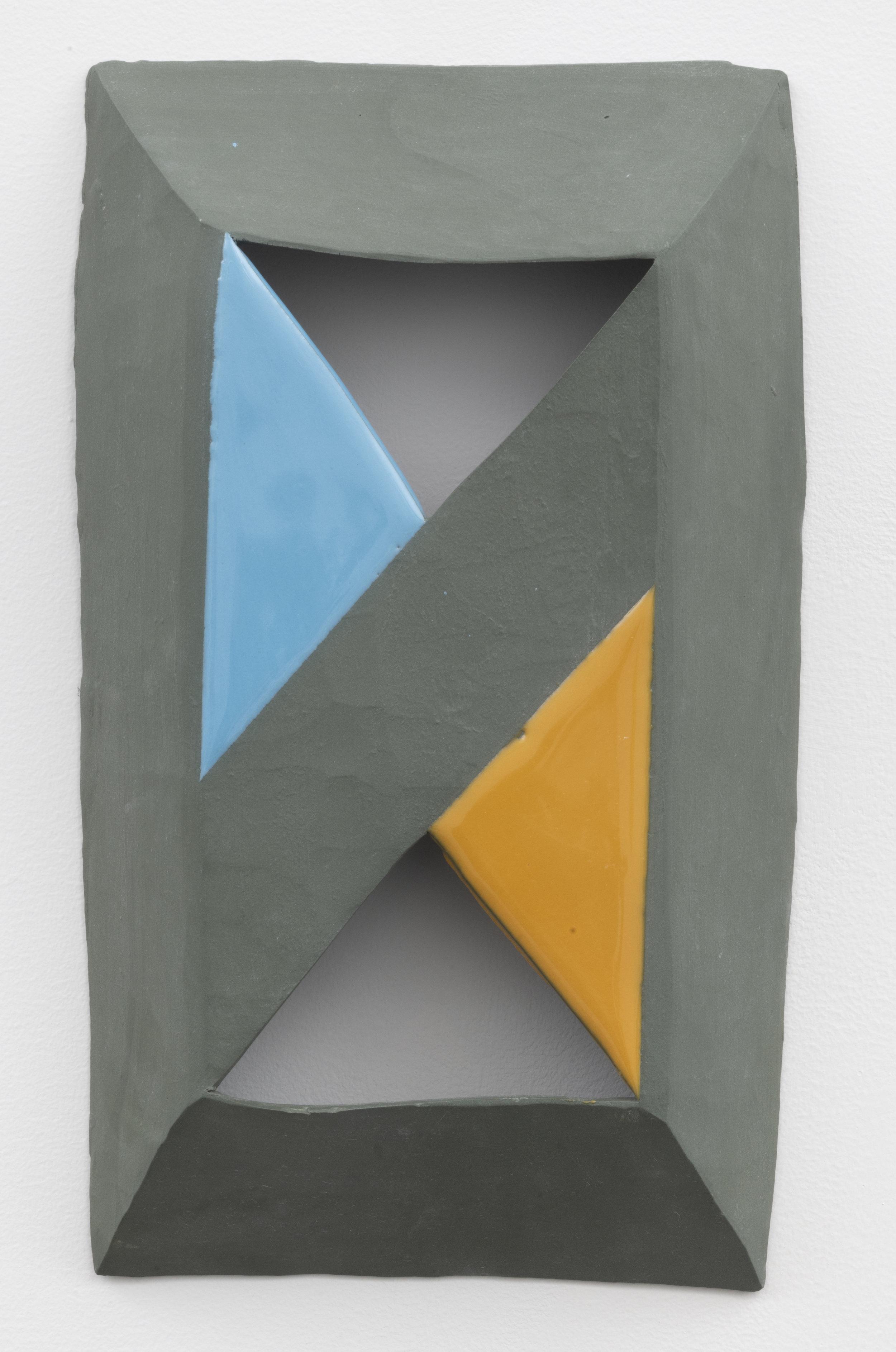 converge , 2018  glazed ceramic 12 x 7 inches