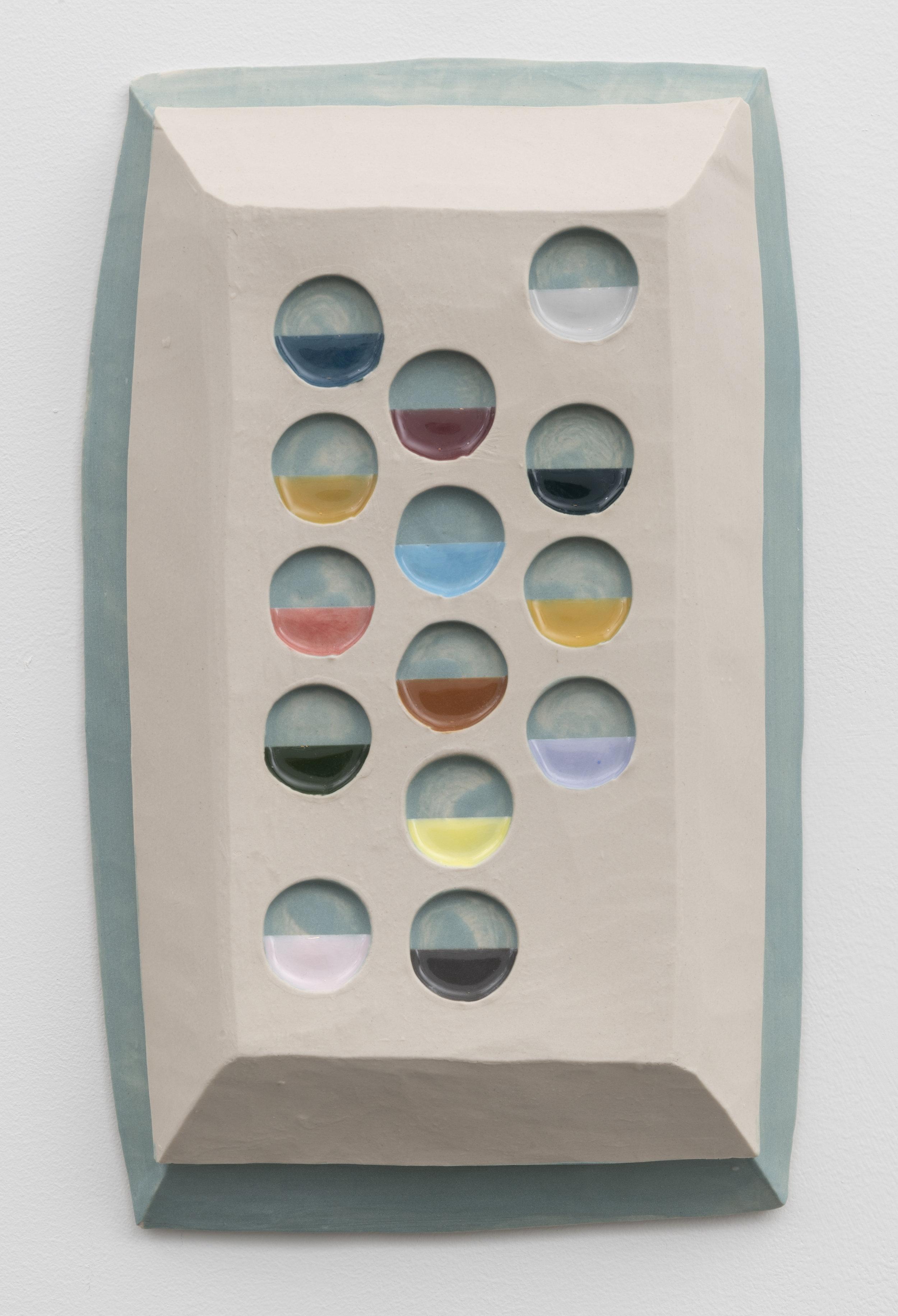 palette,  2018  glazed ceramic 12 x 7 inches