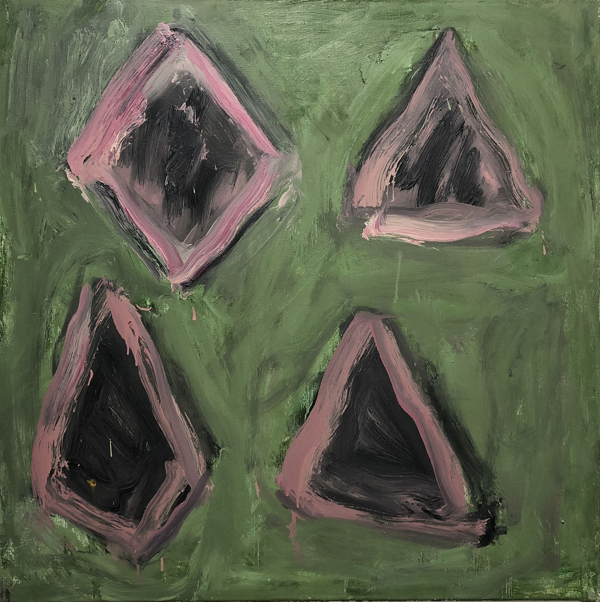 untitled,  2000 oil on linen 36 x 36 inches