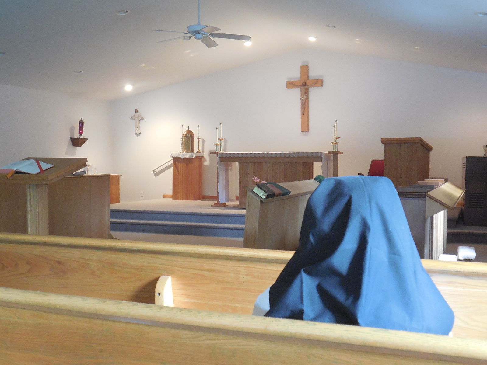 THE SISTERS SPEND AT LEAST ONE HOUR A DAY IN CONTEMPLATIVE PRAYER IN THE PRESENCE OF THE BLESSED SACRAMENT