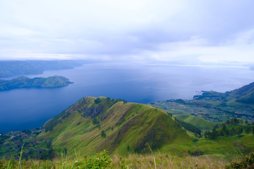 A photo of Lake Toba from our recent trip to the coffee plantations