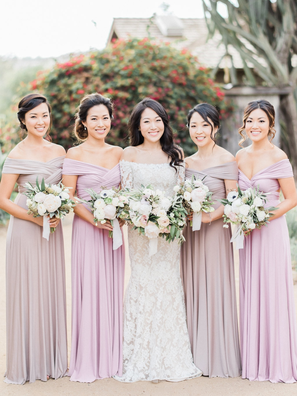 STYLE ME PRETTY : The Prettiest Dusty Purple Garden Wedding