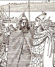 Hakon consults with Jarl Sigurd