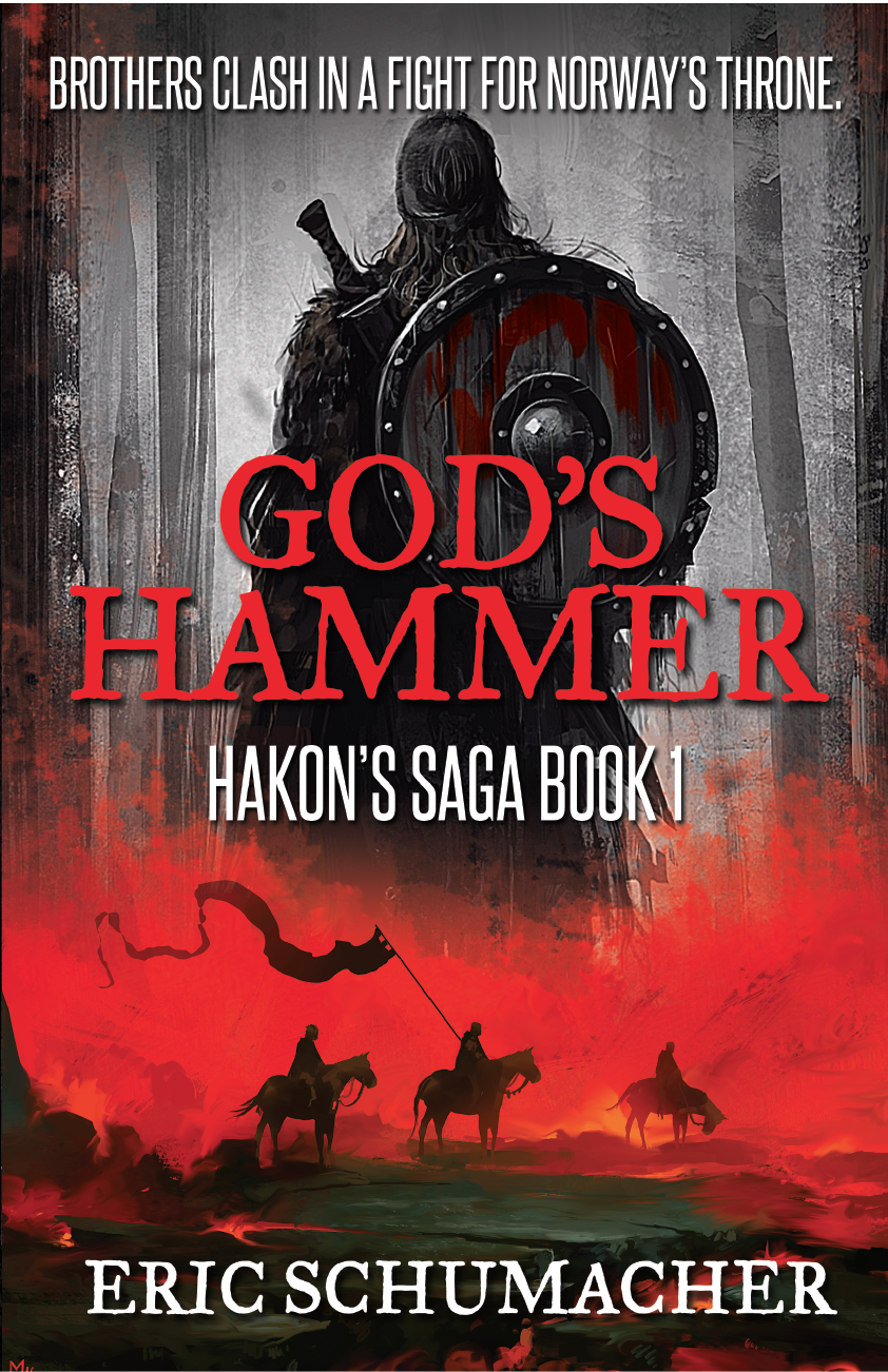 The latest cover of God's Hammer. Artwork by Dominik Mayer and Reza Afshar. Layout by BlueSpark Studios.