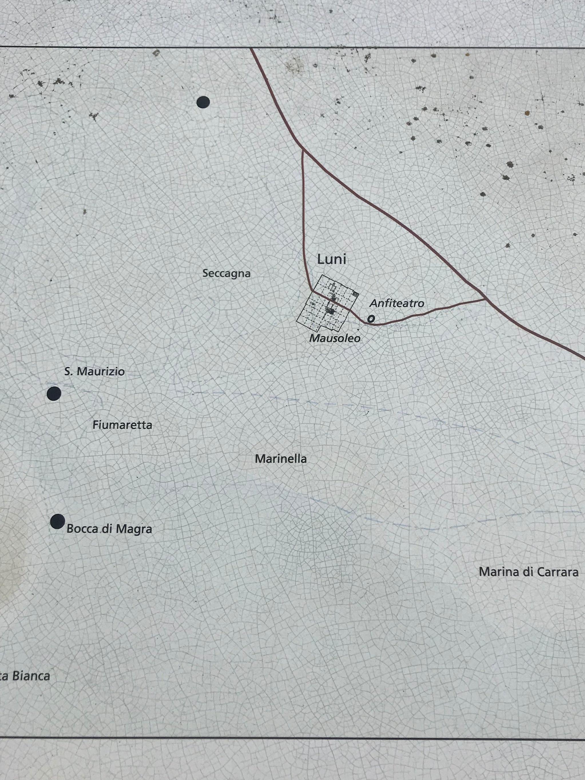 Map of Roman Luna