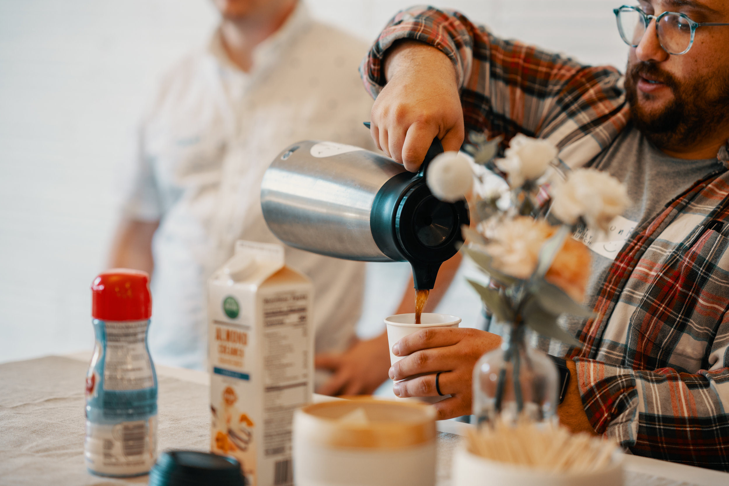 COFFEE - You will be given a booklet when you enter that will help guide you through participating in the liturgy. We're happy to serve you a cup of Greenway Coffee that you can enjoy while you meet some people you'll be worshipping with before we begin.