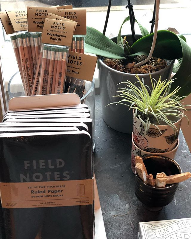 Let nature be your guide. 🌱 @fieldnotesbrand #palosanto #orchidbuds  Find us at @horseradishkitchen all weekend 11-2.