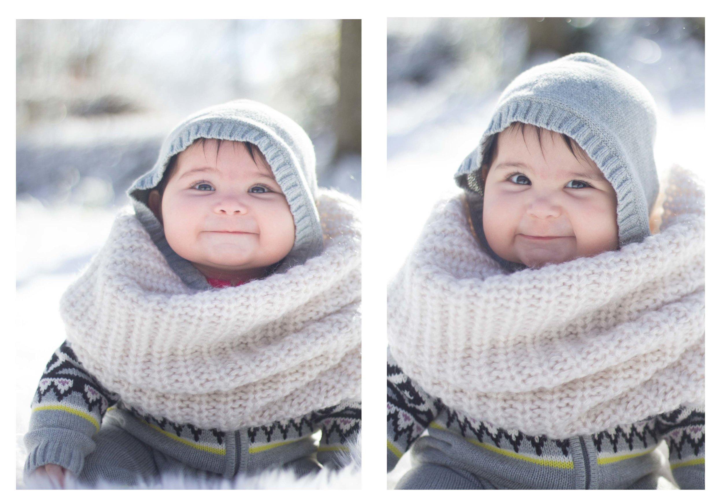 Baby snow photography