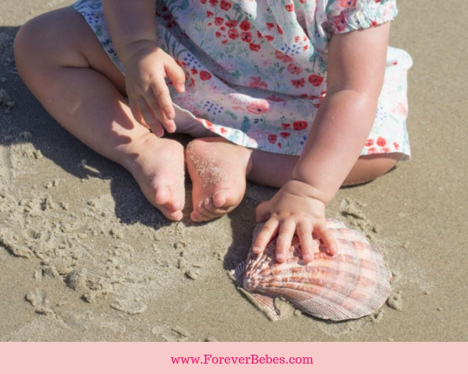 baby beach photography